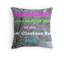 Snow Glorious Snow Group Challange Throw Pillow