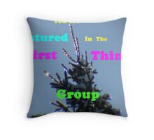 First Things Group Challange Throw Pillow