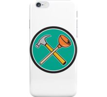 Crossed Hammer Plunger Circle Cartoon iPhone Case/Skin