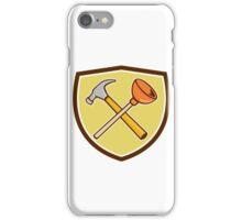 Crossed Hammer Plunger Crest Cartoon  iPhone Case/Skin