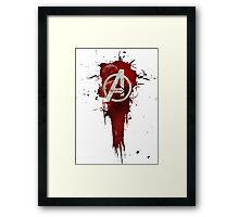 Avengers, Age of Ultron. Splat Framed Print