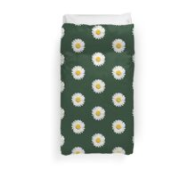 Closeup of a Beautiful Yellow and Wild White Daisy flower Duvet Cover