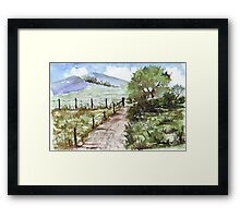 The corner plot Framed Print