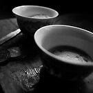 'Sharing a cup of tea', from the series: Private life of a monk by Aditya Swami