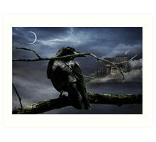 "Quoth The Raven, ""Nevermore"" Art Print"