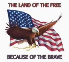 THE LAND OF THE FREE BECAUSE OF THE BRAVE by colormecolorado