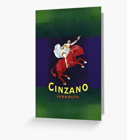 Cinzano Vermouth Greeting Card