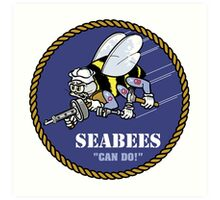 US NAVY SEABEES CAN DO! Art Print