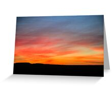 Desert sunset Photographed in Israel, Negev Greeting Card