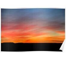 Desert sunset Photographed in Israel, Negev Poster