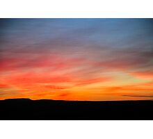 Desert sunset Photographed in Israel, Negev Photographic Print