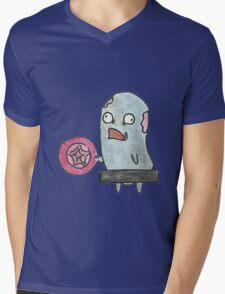 Naked Zombie with a Frisbee Mens V-Neck T-Shirt