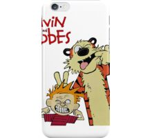 Calvin And Hobbes Together Artwork iPhone Case/Skin