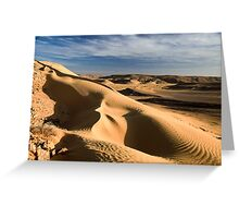 wind shaped Desert sand dune Greeting Card