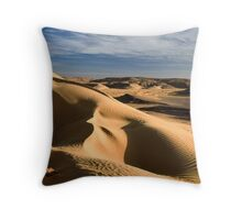 wind shaped Desert sand dune Throw Pillow