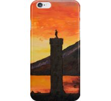 Glenfinnan monument sunset iPhone Case/Skin