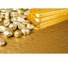pure gold Photographic Print
