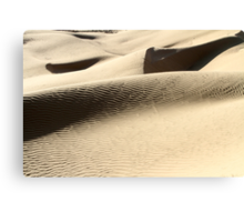 wind shaped Desert sand dune Canvas Print