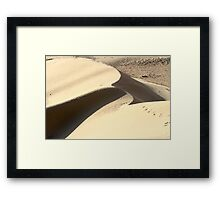 wind shaped Desert sand dune Framed Print