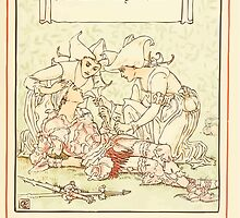 Queen Summer, or, The Tourney of the Lilly and the Rose by Walter Crane 1891 41 - And careful hands the wounded bore by wetdryvac