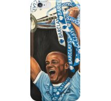 Vincent Kompany lifting Barclays trophy iPhone Case/Skin
