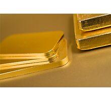 gold ingots Photographic Print