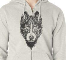 Dog black Zipped Hoodie
