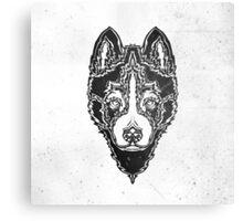 Dog black Canvas Print