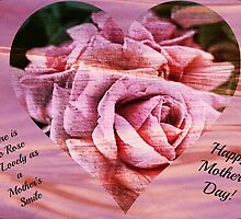 Mother's Day Greeting Card Rose  by wallarooimages