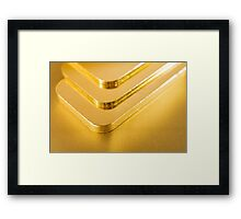 gold ingots Framed Print