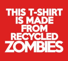 This t-shirt is made from recycled zombies Kids Clothes