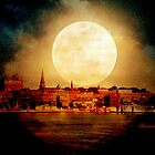Fire Moon over New London-on-Thames by SummerJade