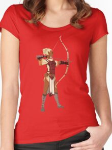 Female RPG Archer Women's Fitted Scoop T-Shirt