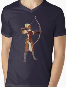 Female RPG Archer Mens V-Neck T-Shirt