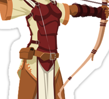 Female RPG Archer Sticker