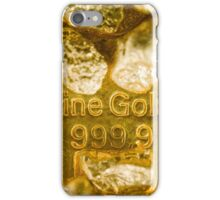 fine gold  iPhone Case/Skin