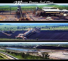 Moura Dawson Coal Mine Collage by Cheryl Eagers