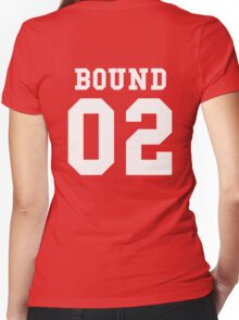 Bound 02 PYREX (white text) Women's Fitted V-Neck T-Shirt