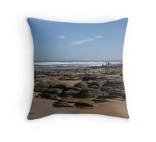 Rockpools at Collonades Throw Pillow