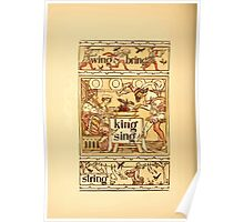 The Golden Primer by John Miller Dow, Illustrated by Walter Crane 1884 24 - Wing Bring King Sing String Poster