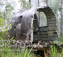 WWII crash site, near NPA Airfield Postcard by Heinz