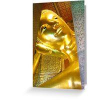 Reclining Budda, Grand Palace, Bangkok Greeting Card