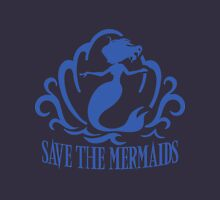 Save the Mermaids Womens Fitted T-Shirt