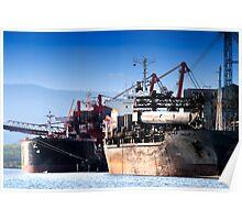 Ships at the Coal Loader Poster