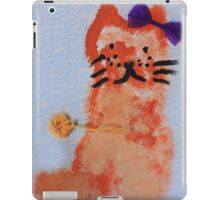 cat with bow drawing iPad Case/Skin