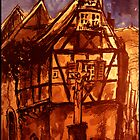 Halftimbered houses in the Palatinat by Franz Roth
