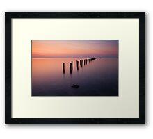 Quiet Afterglow Framed Print