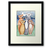 Happy Cats and Kittens Framed Print