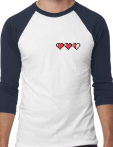 8Bit Heart - Legend of Zelda Men's Baseball ¾ T-Shirt