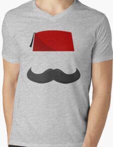 Man with a Fez Mens V-Neck T-Shirt